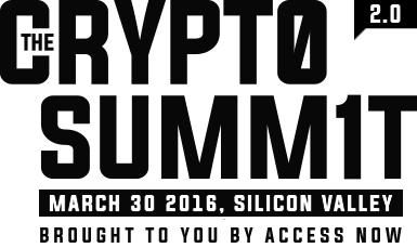The Crypto Summit: see you at part II at Rightscon Silicon Valley 2016! This event is brought to you by Access at accessnow.org