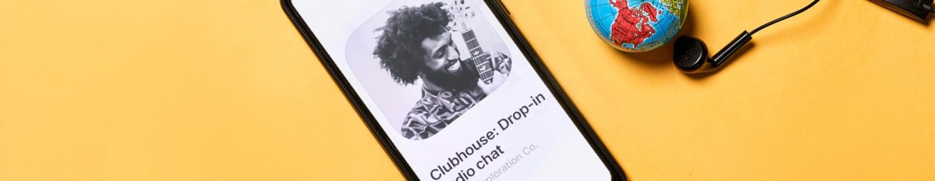 Smartphone with Clubhouse app
