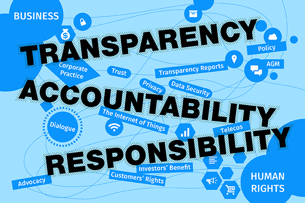 Transparency, accountability, responsibility