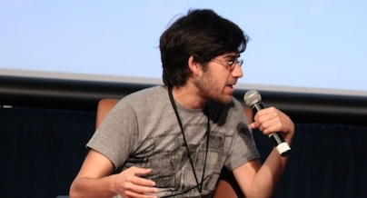 Aaron Swartz at the Silicon Valley Human Rights Conference in 2011.